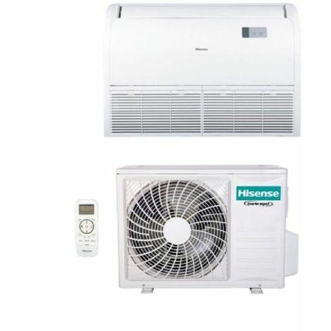 Climatizzatore Condizionatore Hisense Inverter Soffitto/Pavimento 30000 Btu AUV90UR4RA4 R-32 Wi-Fi Optional con Telecomando di Serie