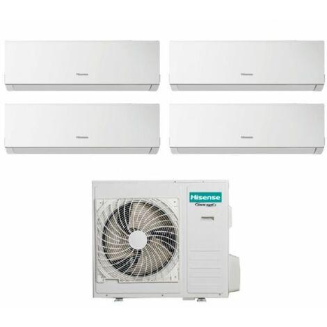 Climatizzatore Condizionatore Hisense Quadri Split Inverter Serie NEW COMFORT 9+9+9+12 con 4AMW81U4RAA R-32 Wi-Fi Optional 9000+9000+9000+12000