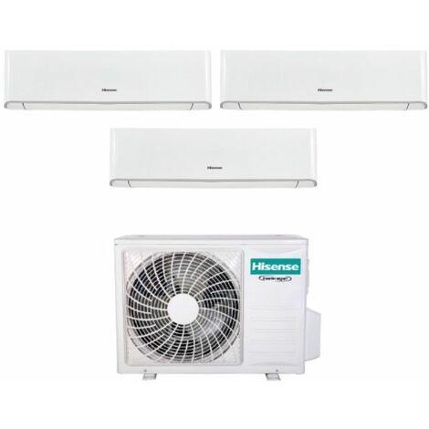 Climatizzatore Condizionatore Hisense Trial Split Inverter serie ENERGY 9+9+9 con 3AMW62U4RFA R-32 Wi-Fi Integrato 9000+9000+9000 - New