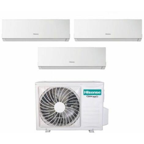 Climatizzatore Condizionatore Hisense Trial Split Inverter serie NEW COMFORT 7+7+7 con 3AMW62U4RFA R-32 Wi-Fi Optional 7000+7000+7000 - New