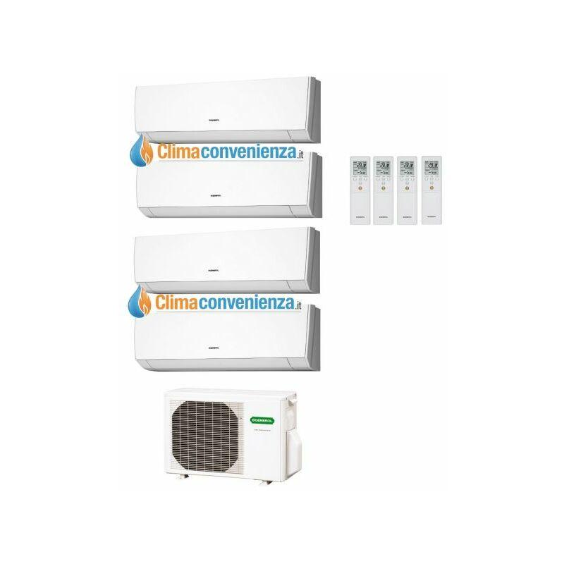 Climatizzatore Condizionatore Quadri Split Inverter Fujitsu General Serie LM 9000+9000+9000+14000 con AOH