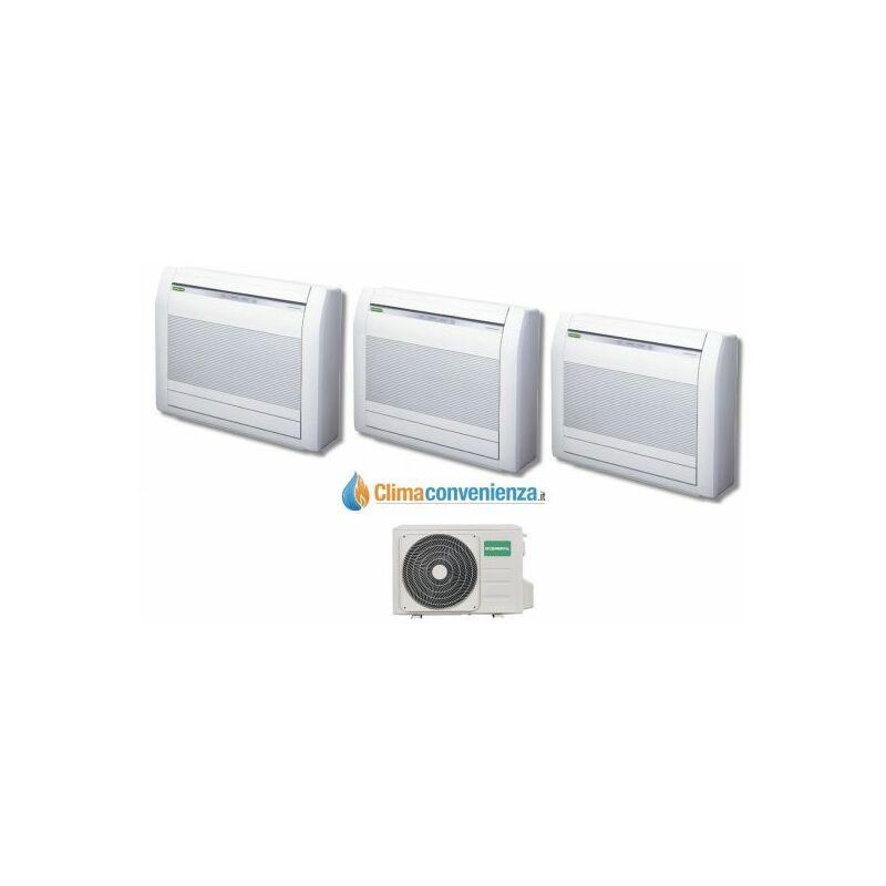 Climatizzatore Condizionatore Trial Split Inverter Pavimento Fujitsu General Serie LVCA 9000+9000+9000 co