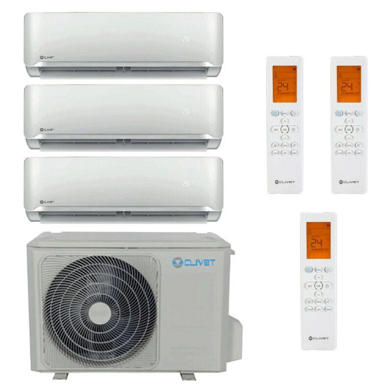 Climatizzatore Trial Split 9000+9000+12000BTU Inverter R32 A++ Clivet