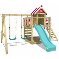 Climbing fram WICKEY Smart Candy with swing, slide and large sandpit