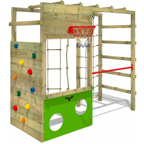 Climbing frame FATMOOSE CleverClimber Club XXL with climbing wall