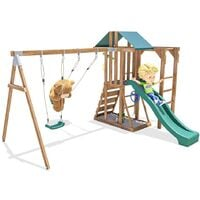 Climbing Frame JuniorFort Monkey - Wooden Playset with swings and slide