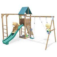 Climbing Frame MonkeyFort Woodland - Playhouse Swing Set Wave Slide Monkey Bars