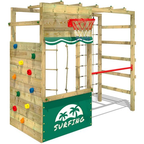 Climbing frame WICKEY Smart Action withshop and monkey bars
