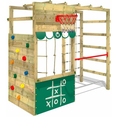 Climbing frame WICKEY Smart Action with shop and monkey bars