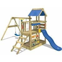 Climbing frame WICKEY TurboFlyer with swing, slide and large sandpit