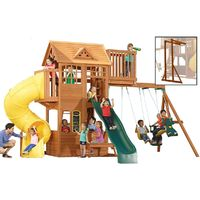 Climbing Frame with 2 Swings, 2 Slides, Monkey Bars & Crows Nest (Skyline)