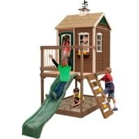 Climbing Frame with Slide, Monkey Bars & Playhouse (Queensland)
