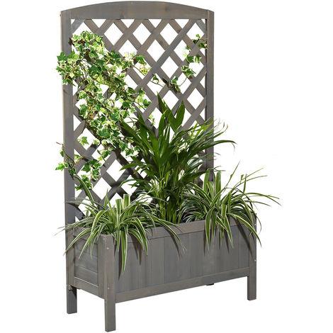 climbing help trellis flower box grey flower stand flower tub wood