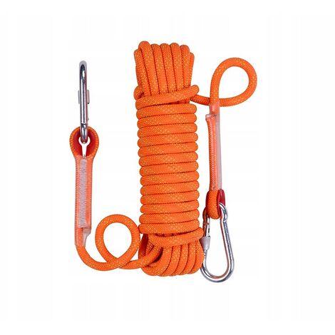 """main image of """"Climbing rope braided rope clothing rope 14mm orange climbing rope (20 meters climbing rope"""""""