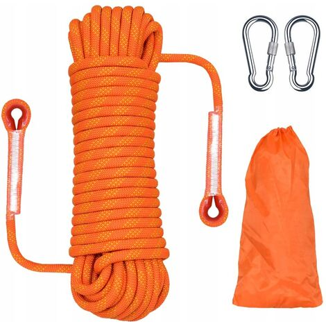 Climbing rope braided rope clothing rope climbing rope 10 meters orange 12mm climbing rope