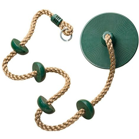 """main image of """"Climbing Swing, Climbing Rope, Disc Swing with Foot Support, Kids Set, for Outdoor, Backyard, Playground"""""""