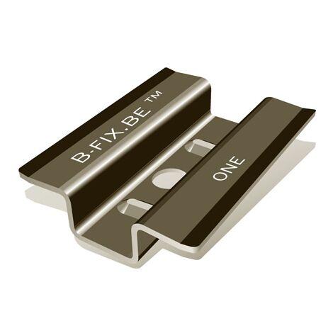 Clip B-fix BlackOne noir mat + vis + embout | Boite de 100 unités