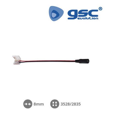 Clip + cable para unir a fuente 8mm SMD3528/2835