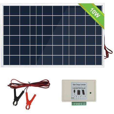 Clip de charge de batterie de contrôleur de panneau solaire de 10 watts 3A pour les bateaux de jardin de camp