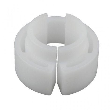 """Clip de déverrouillage PVC blanc, 7/8"""""""
