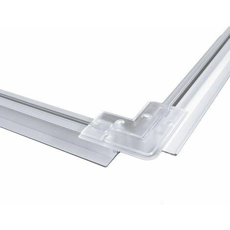 Clip de fixation d'angle pour profilé LED aluminium corniche 2 directions M04
