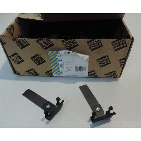 Clip de maintien de gaine ou cable sur poutrelle epaisseur 5-9mm hauteur 75mm noir (à l'unité) PLOMBELEC 701006