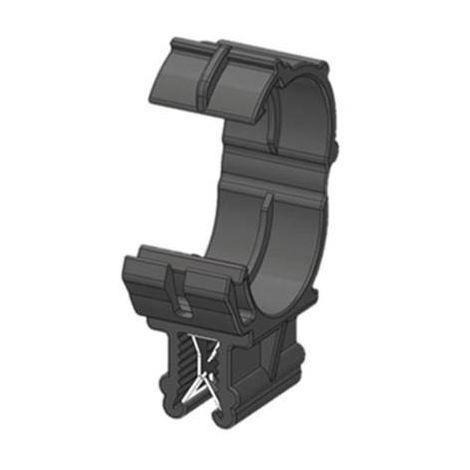 Clip pour bord de tôle WKK ART005914 enfichable Ø du faisceau (serré)=13 mm noir 1 pc(s)