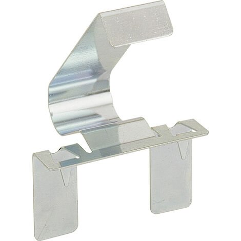 Clip pour plinthe turboclip f - Matériau : Acier - Décor : Chromé - Epaisseur plinthe mini : 12 mm - HETTICH - Vendu à l'unité