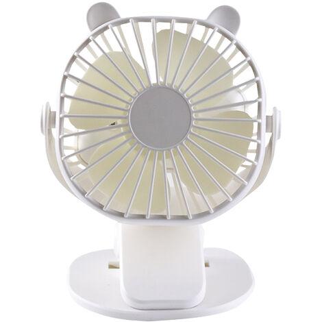 Clip Sur Ventilateur Bureau Usb Ventilateur Bureau Mini Ventilateur 3 Vitesses 360 ¡ã Angle Reglable Portable