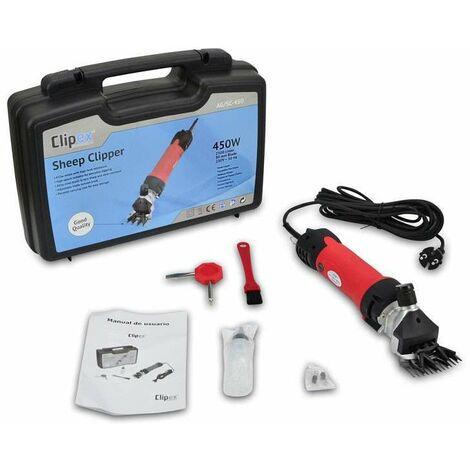 Clipex - Esquiladora Eléctrica Para Ovejas 450W, 220V, Fácil De Usar, Sistema Anti-calentamiento, Cable Largo 5.5m, Ligero 1,5kg, Trasquiladora, Maquina De Esquilar Ovejas