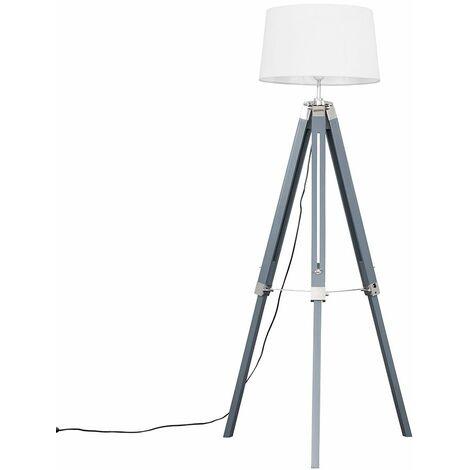 Clipper Grey Tripod Floor Lamp + LED Bulb - Dark Grey