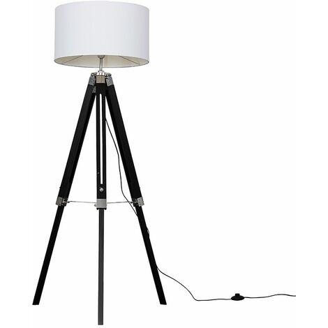 Clipper Tripod Floor Lamp in Black - Beige