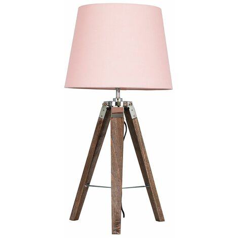 Clipper Tripod Table Lamp in Light Wood
