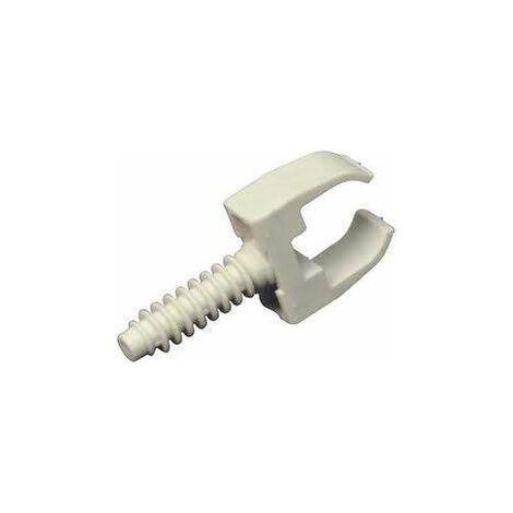 Clips + chevilles pour tube IRL D.20mm - 10 pièces