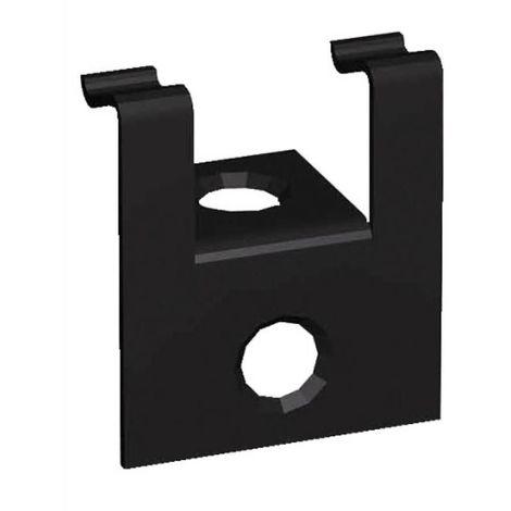 Clips de fixation invisibles cobra 20 mm de début et fin sachet 30 clips inox 304 et 30 vis