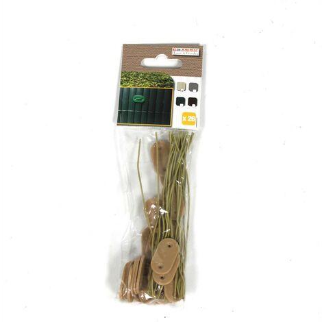 Clips de fixation Kit de fixation fil 150x pour tapis de protection PVC bambou