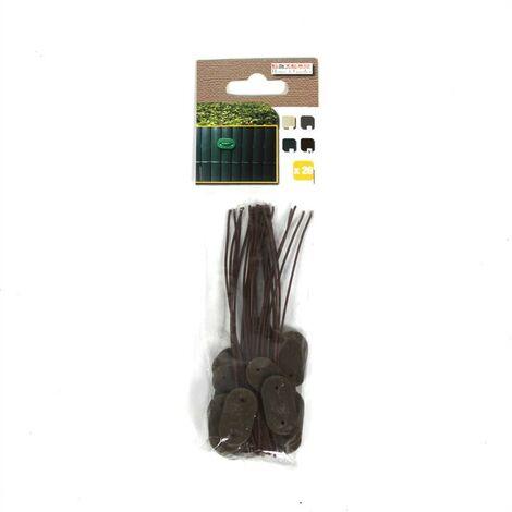 Clips de fixation Kit de fixation fil 150x pour tapis de protection PVC marron
