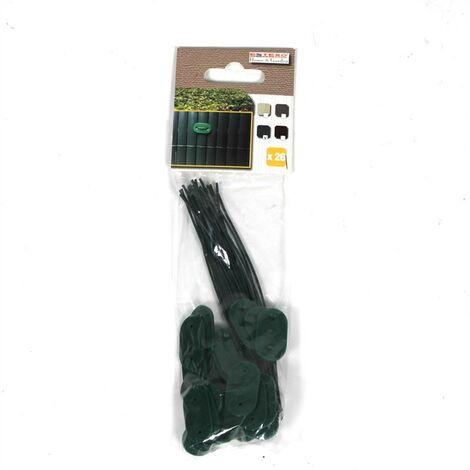 Clips de fixation Kit de fixation fil 150x pour tapis de protection PVC vert