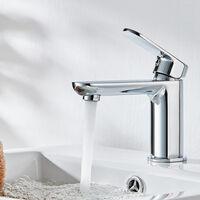 Cloakroom Basin Sink Mixer Tap Chrome Modern Bathroom Faucet