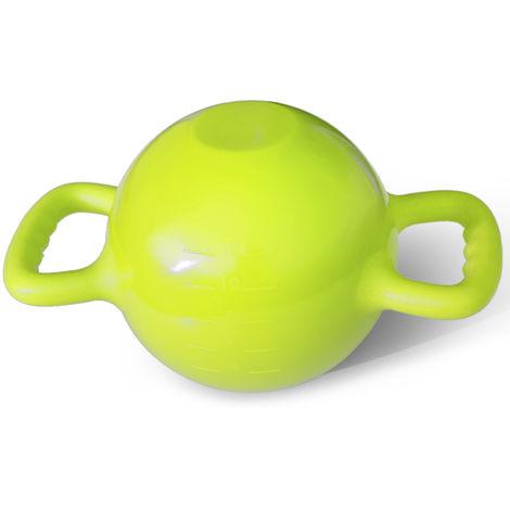 Cloche De Bouilloire Yoga Fitness, 4-12Lb, Reglable, Vert Fluorescent
