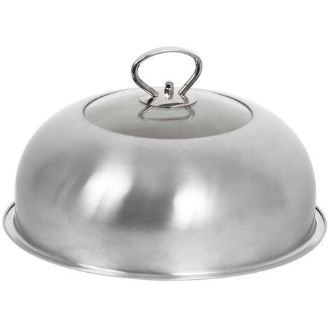 Cloche de cuisson plancha vitrée inox - Le Marquier