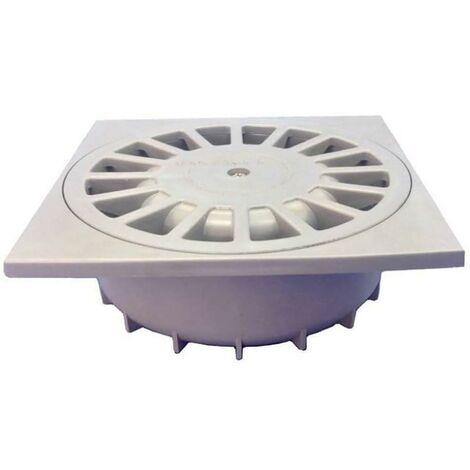 Cloche de drainage Sortie verticale 10X10Cm�40 Pvc Gris Hidrotecnoagua