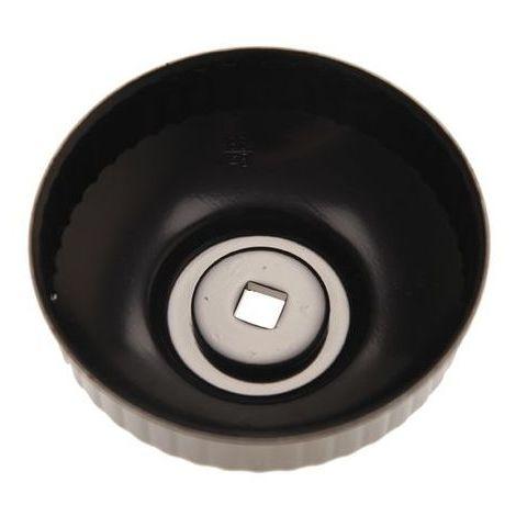 Cloche de filtre à huile diamètre 74/76 mm / 15 pans / empreinte 3/8
