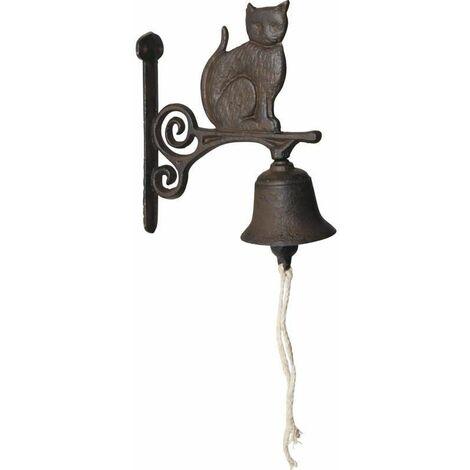 Cloche de jardin chat en fonte