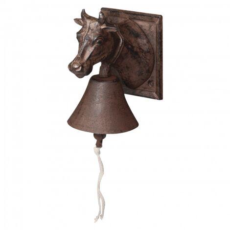 Cloche vache - L 16,2 x l 12 x H 18,1 cm - Fonte - Livraison gratuite