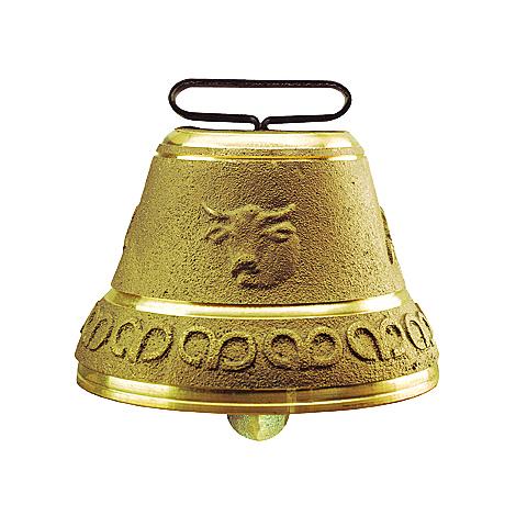 Cloche vache ronde - Ukal - Fonte de laiton 105mm