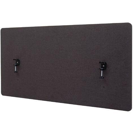 Cloison acoustique à double paroi pour bureau séparateur barrière 120x60cm en tissu marron-gris - marron