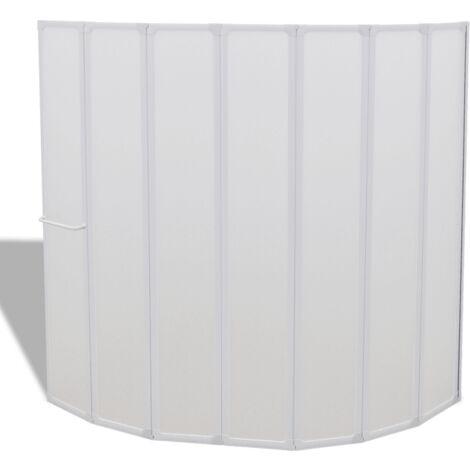 Cloison de salle de bain pare baignoire 3 volets 168 cm - Noir