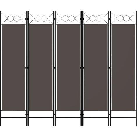 """main image of """"Cloison de séparation 5 panneaux Anthracite 200x180 cm"""""""