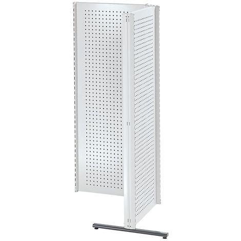 Cloisons modulaires industrielles - combinaison d'angle, côté droit, 90° - gris clair